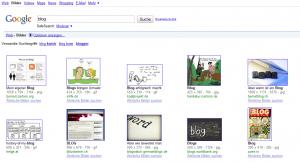 Screenshot Google Bildersuche