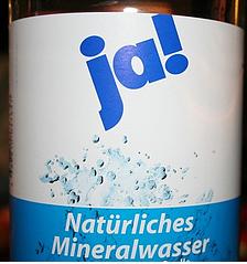 ja! Mineralwasser Foto